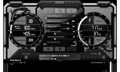 Temperatura GPU MSI Afterburner