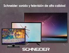 """Consigue los televisores Schneider de 32"""", 43"""" o 55"""" a un precio sin igual. Descubre toda la gama de productos Schneider con envíos en 24 horas."""