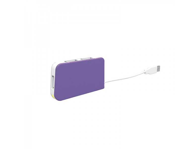 HUB 4 PUERTOS USB TRAVEL PURPLE APPROX