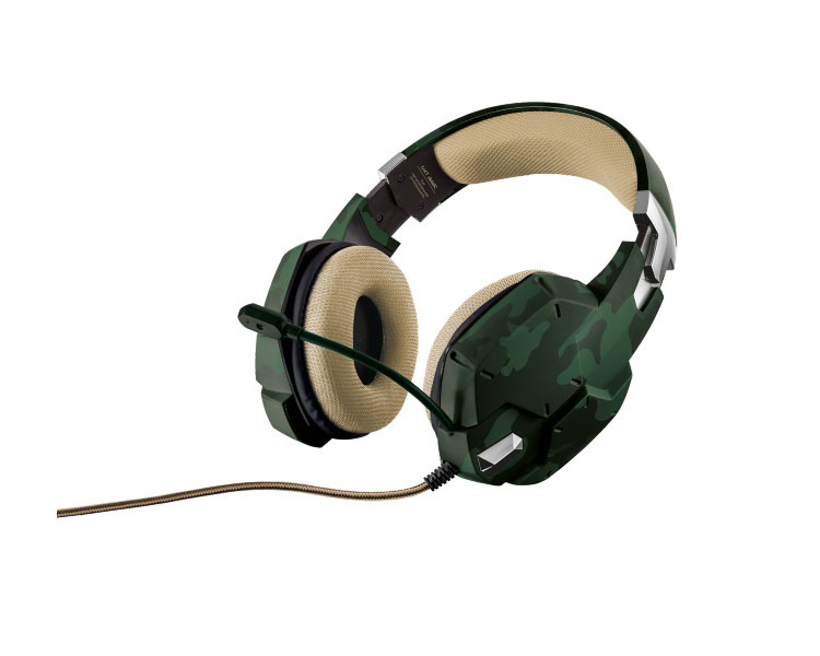 AURICULAR GAMING GXT322C GREEN CAMOUFLAGE TRUST