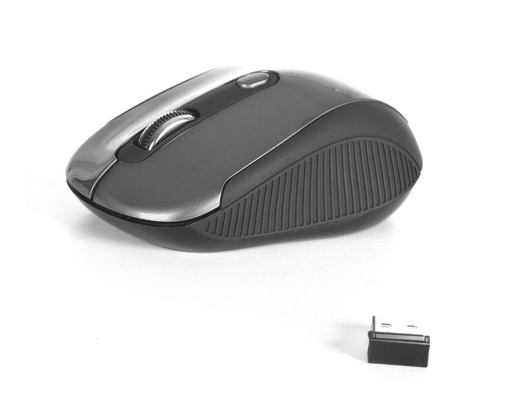 MOUSE NOTEBOOK WIRELESS HAZE BLACK OPTICAL NGS