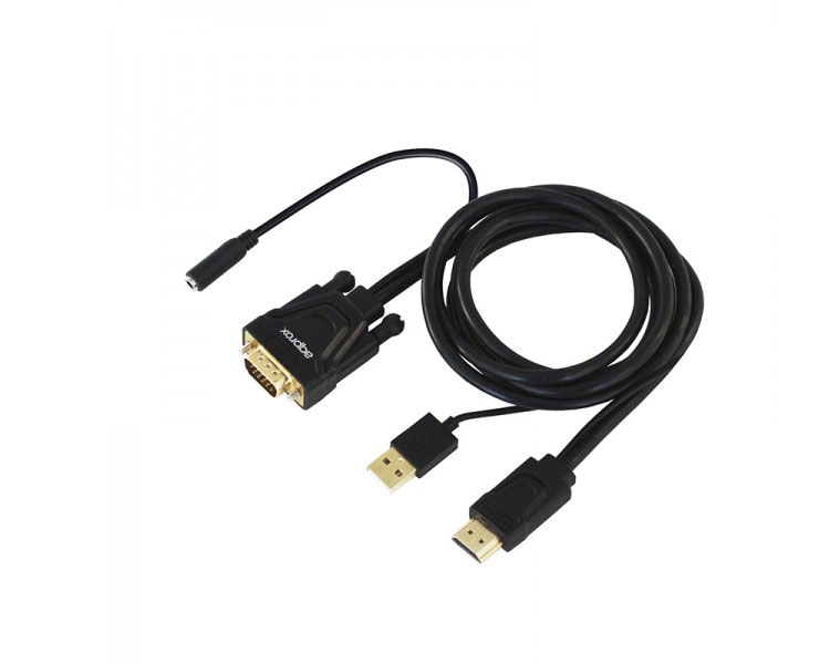ADAPTADOR HDMI A VGA + AUDIO + ALIMENTACION APPROX