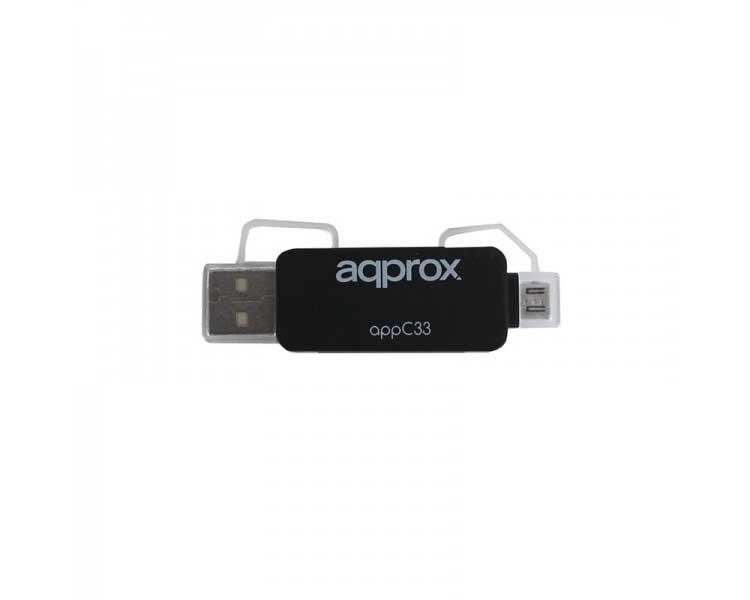 ADAPTADOR MICRO SD/SD/MMC A USB/MICRO USB APPROX