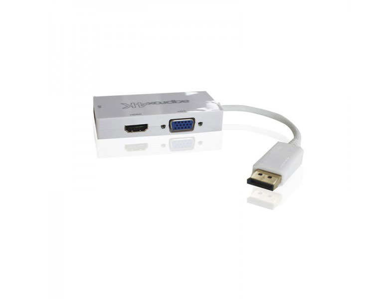 ADAPTADOR DISPLAY PORT A HDMI/VGA/DVI 4K APPROX