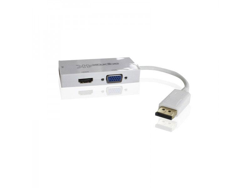 ADAPTADOR DISPLAYPORT A HDMI/VGA/DVI 4K APPROX