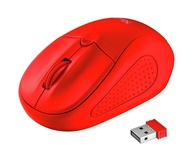 RATON OPTICO PRIMO WIRELESS NEON RED TRUST