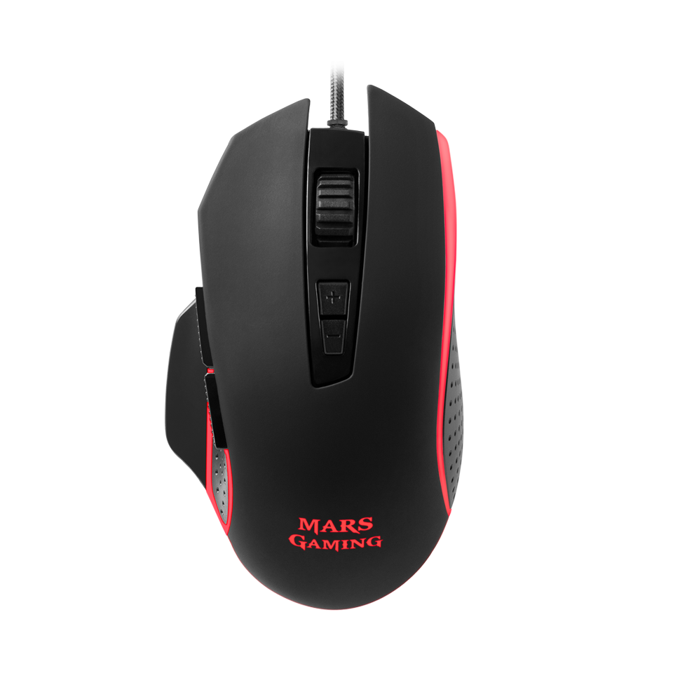 RATON OPTICO MM018 BLACK MARS GAMING
