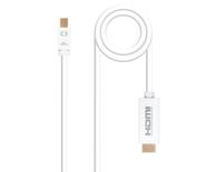 CONVERSOR MINI DISPLAYPORT A HDMI 2 M WHITE NANOCABLE