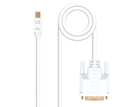 CONVERSOR MINI DISPLAYPORT A DVI 5 M WHITE NANOCABLE