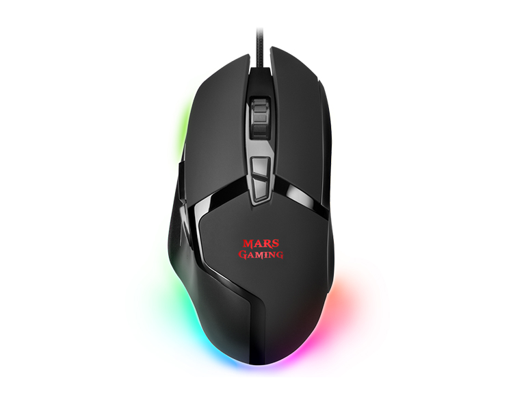 RATON OPTICO MMGX RGB BLACK MARS GAMING