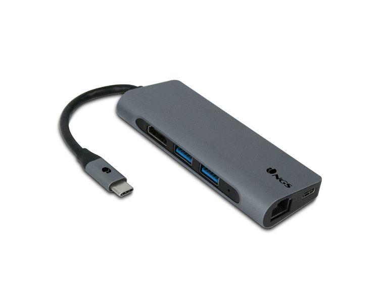 HUB 7 PUERTOS USB-C WONDERDOCK7 GRIS NGS