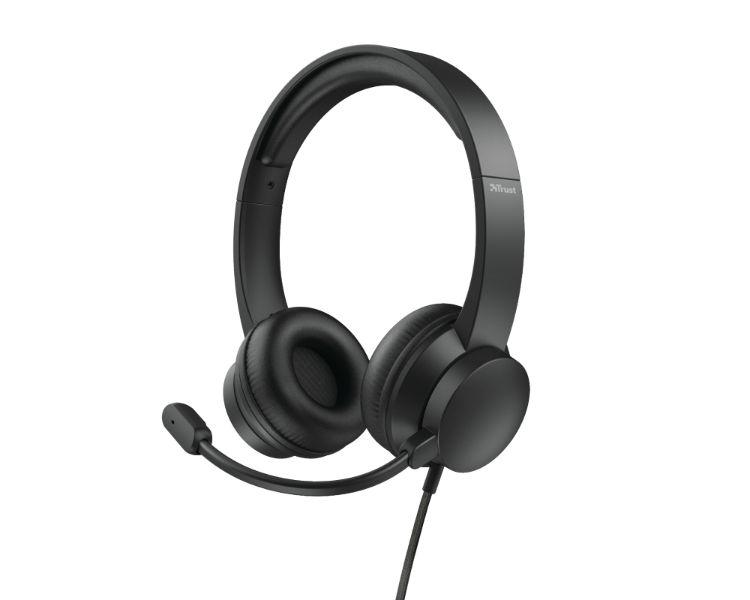AURICULAR HS-200 ON-EAR BLACK TRUST