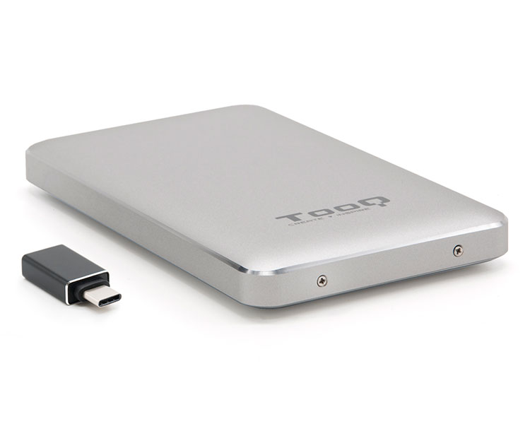CAJA EXTERNA USB 2.5'' 9.5MM SATA PLATA TOOQ