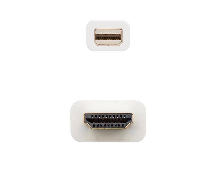 CONVERSOR MINI DISPLAYPORT A HDMI 3 M WHITE NANOCABLE