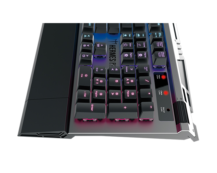 TECLADO MECANICO GAMING BLUE SWITCH HERMES P2 RGB GAMDIAS