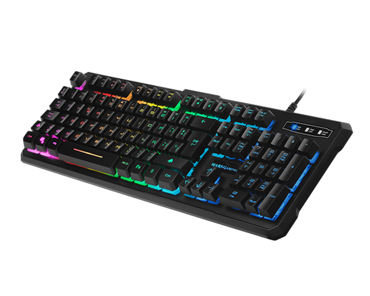 TECLADO GAMING MARS HIBRIDO MECANICO RED SWITCH RGB