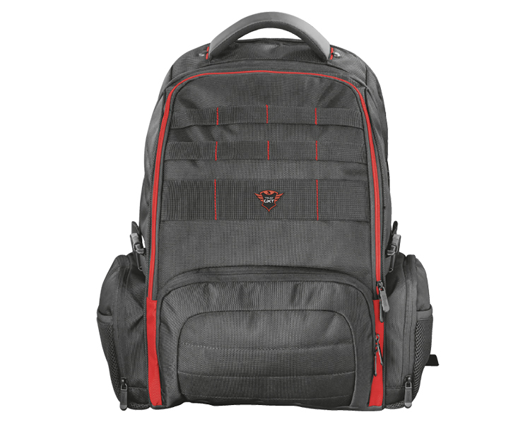 "MOCHILA GAMING GXT 1250 HUNTER 17.3"" BLACK/RED TRUST"
